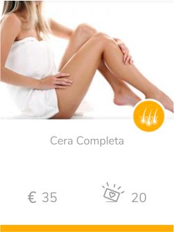epilazione donna Cera completa