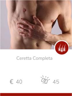 epilazione uomo Ceretta Completa