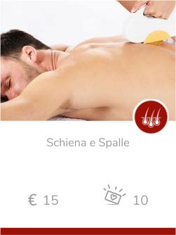 epilazione uomo Schiena e Spalle